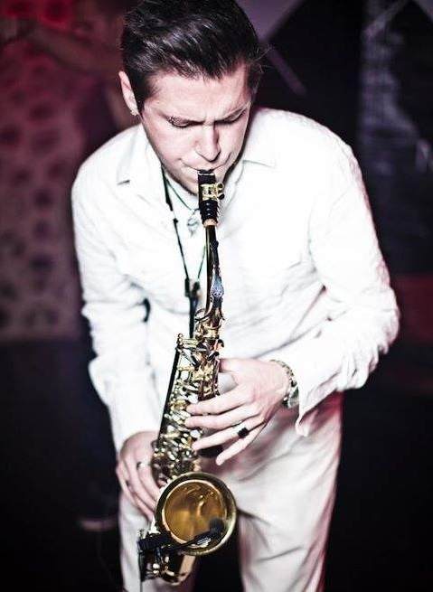 Saxofonist Oliver Meadow