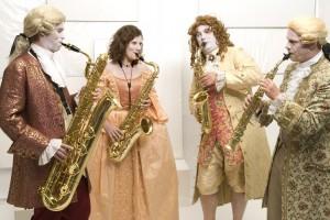 Vierfarben Saxophon