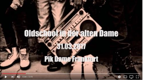 DJ Six legt HipHop Classics in der Pik Dame, Frankfurt auf.